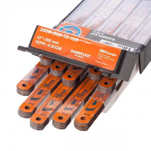 Bahco Sandflex Testere Laması 18 diş 30 cm (10 Adet) 2