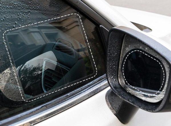 Araba Cam ve Ayna Yağmur Kaydırıcı Film (Çift) 1