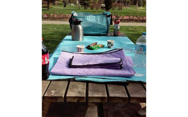 Piknik Örtüsü Kamp Tipi Çantalı