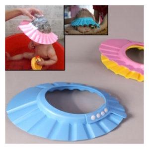 Bebek Banyo Şapkası -Düğmeli PEMBE
