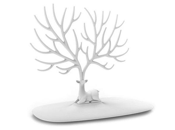 Geyik Tasarımlı Takı, Mücevher Standı Beyaz 2
