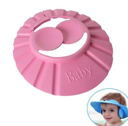 Bebek Banyo Şapkası Düğmeli Kulaklıklı 1