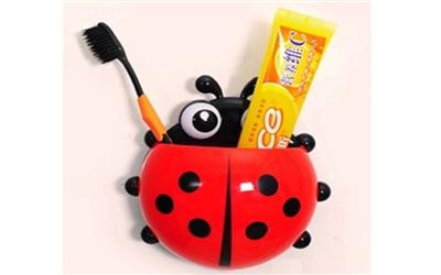 Diş Fırçası ve Macunu Kutusu Uğurböceği Şekilli