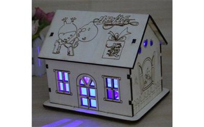 Kumbara Ev Şekilli Işıklı