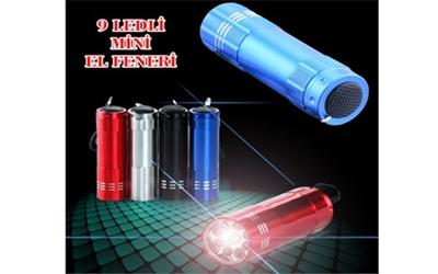 9 Ledli Metal Mini El Feneri