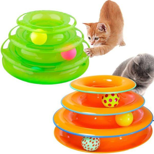 3 Katlı Kedi Oyuncağı Tower of Tracks 1