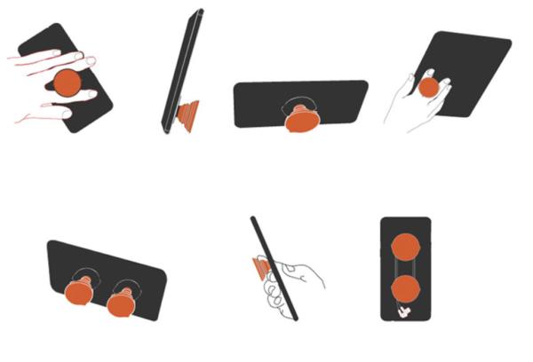 Telefon Parmak Tutucu (Aparatlı) (2 Renk) 1