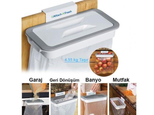 Attach A Trash Kapaklı Çöp Poşeti Tutucu Aparat 1