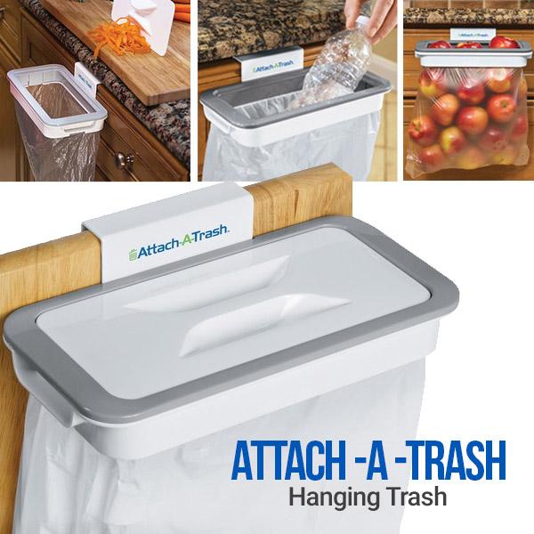Attach A Trash Kapaklı Çöp Poşeti Tutucu Aparat 2