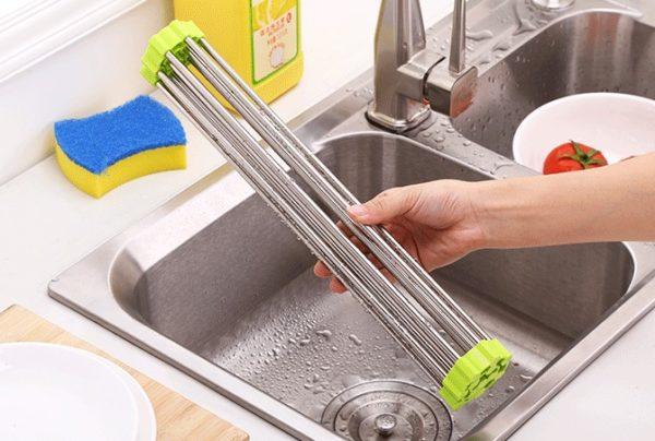 Mutfak İçi Katlanabilir Kurutmalık Süzgeç 47*22 cm 1