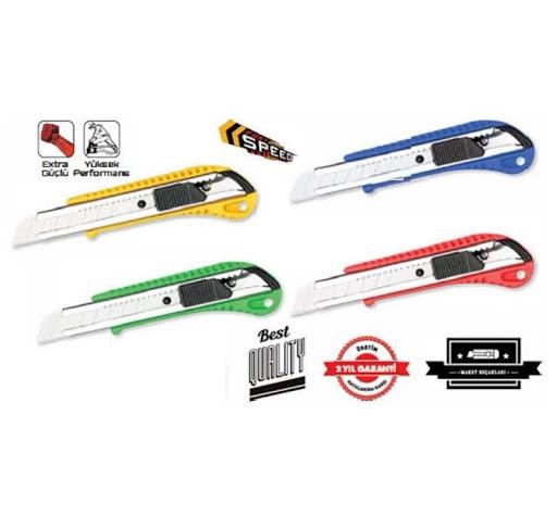 Eko Plastik Maket Bıçağı-Mavi, Sarı, Yeşil, Kırmızı 1