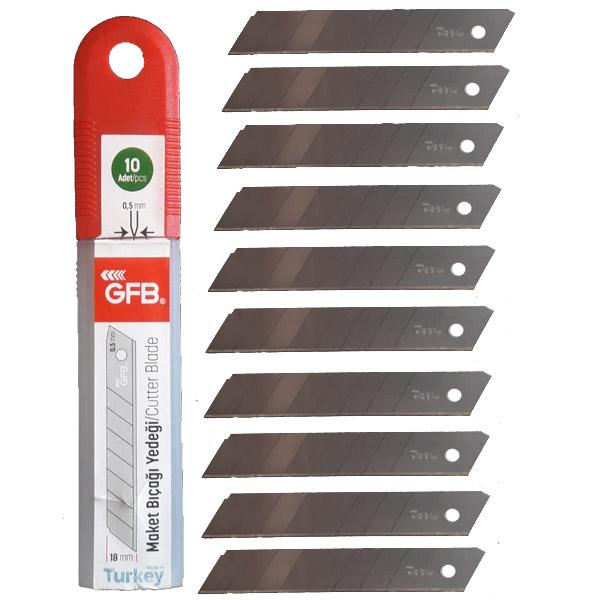 Maket Bıçağı GFB Yedek Uç 100 Adet Kalınlık 0,5 Maket Bıçağı Ağzı 1