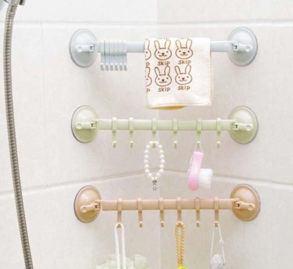Mutfak Banyo Askısı Vantuzlu Kancalı