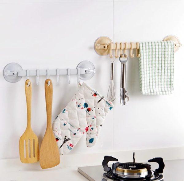 Mutfak Banyo Askısı Vantuzlu Kancalı 1