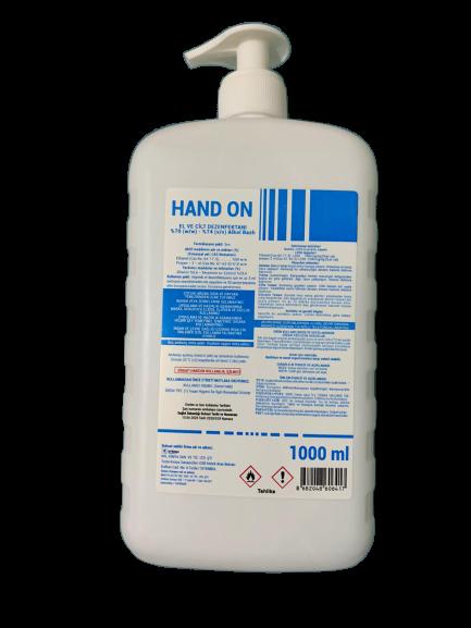 El ve Cilt Dezenfektan Biyosidal Ruhsatlı 1000 ml %80 Alkol 2