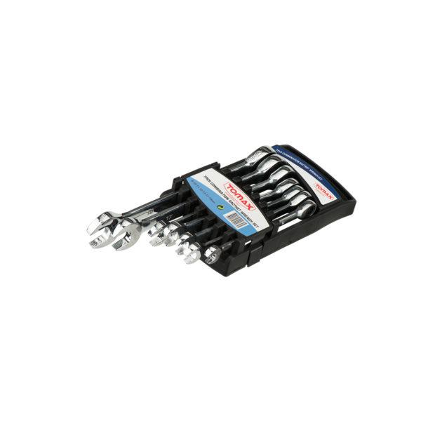 Tomax Cırcır Kombine Anahtar Takımı-8-10-11-12-13-17-19 (7'li Set) 1