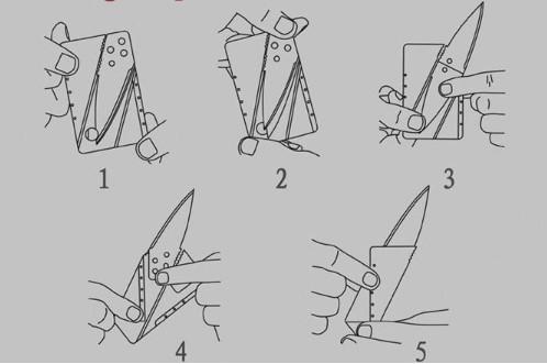 Kredi Kartı Şeklinde Bıçak (Kutusuz) 1
