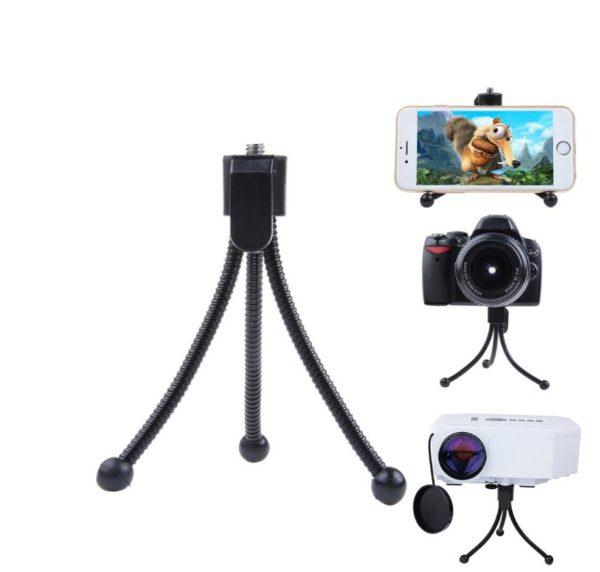 Telefon ve Kamera İçin Esnek Metal Mini Tripod (11 cm) 1