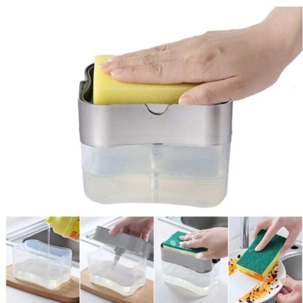 Pompalı Sünger Hazneli Sıvı Sabunluk 380 ml 2