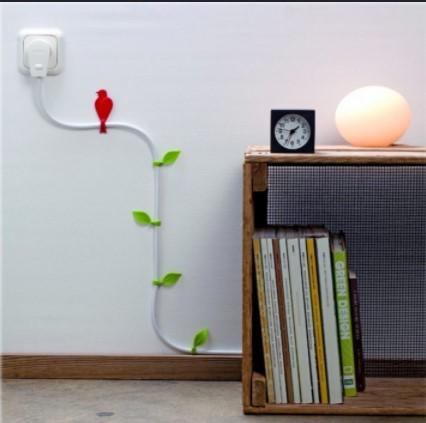 Kuş ve Yaprak Kablo Sabitleyici Danhao Wire Blooms 1