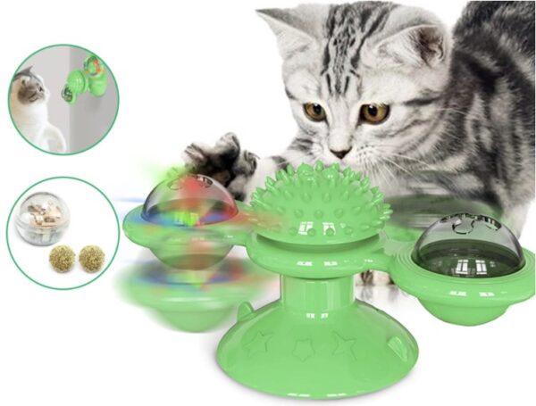Vantuzlu Kedi Oyun Topu Yel Değirmeni