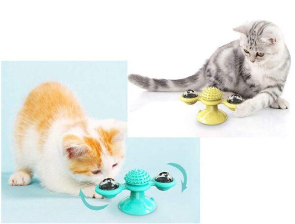 Vantuzlu Kedi Oyun Topu Yel Değirmeni 1