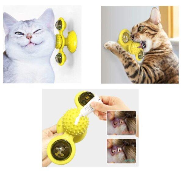 Vantuzlu Kedi Oyun Topu Yel Değirmeni 2