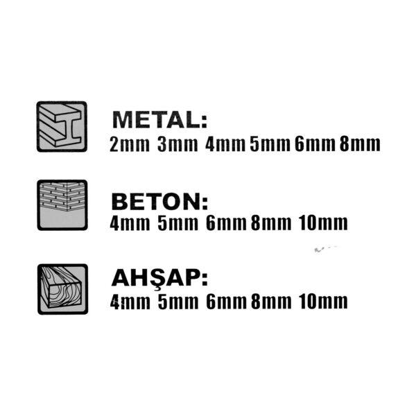 Matkap Ucu Seti (Ahşap-Metal-Beton) 16 Parça 4