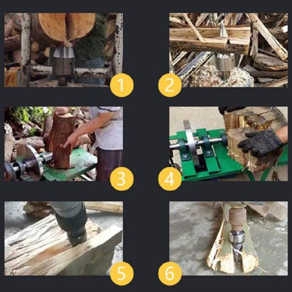 Ahşap Odun Kütük Ayırma Yarma Ucu Ağır Hizmet 7