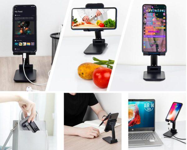 Katlanabilir Masaüstü Telefon ve Tablet Tutucu 2