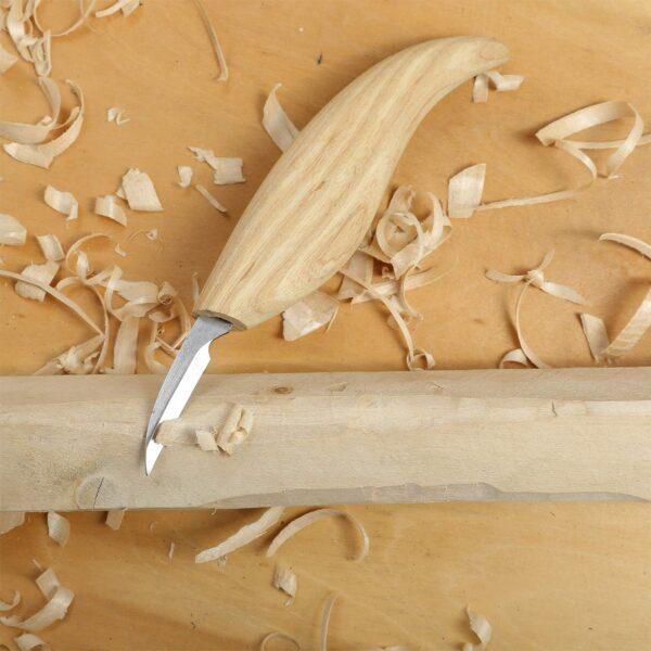 Ahşap Kaşık Kuksa Oyma Bıçağı Seti Bez Çantalı 4