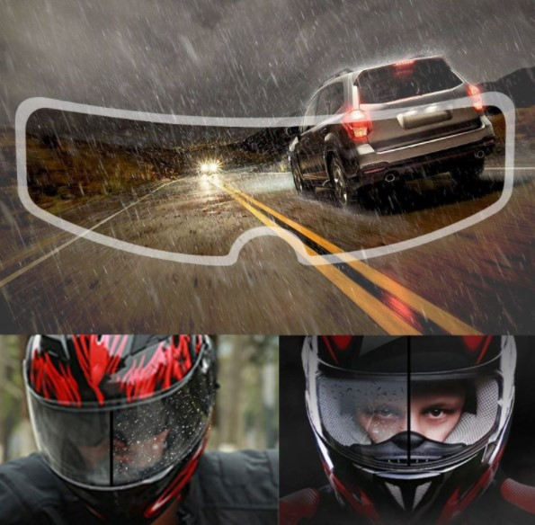 Motosiklet  Kaskı İçin Yağmur Kaydırıcı 2