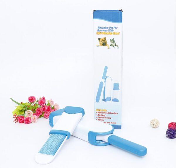 Tüy Toz Temizleyici Fırça Seti 2li Mavi KUTULU
