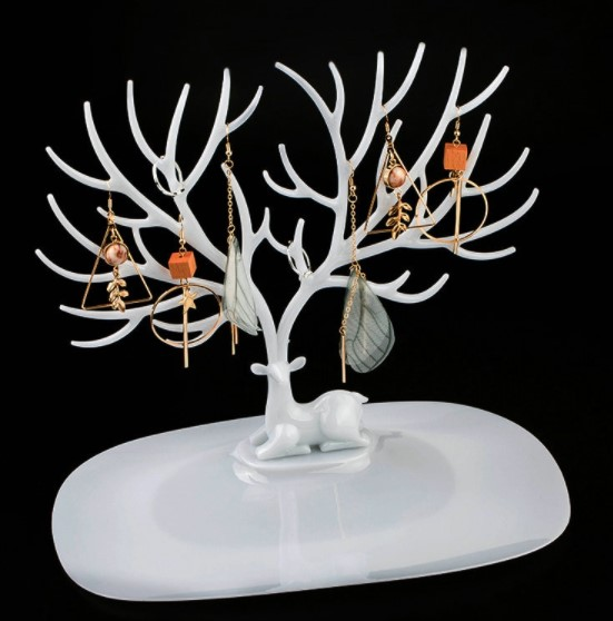 Geyik Tasarımlı Takı, Mücevher Standı Beyaz 1