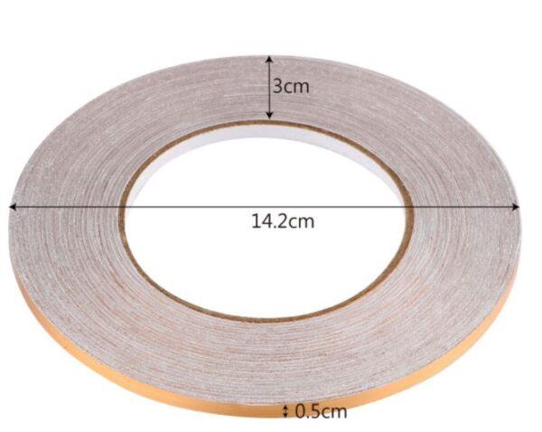 0.5 cm 50 Metre Gold Fayans Arası Şerit Bant 1