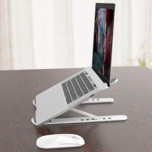 Plastik Yükseklik Ayarlı Laptop Standı Beyaz