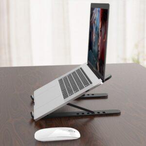 Plastik Yükseklik Ayarlı Laptop Standı Siyah
