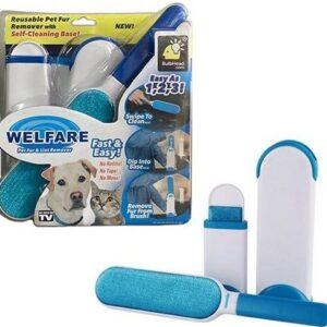 Tüy Toz Temizleyici Fırça Seti 2li Mavi Vakum Ambalajlı
