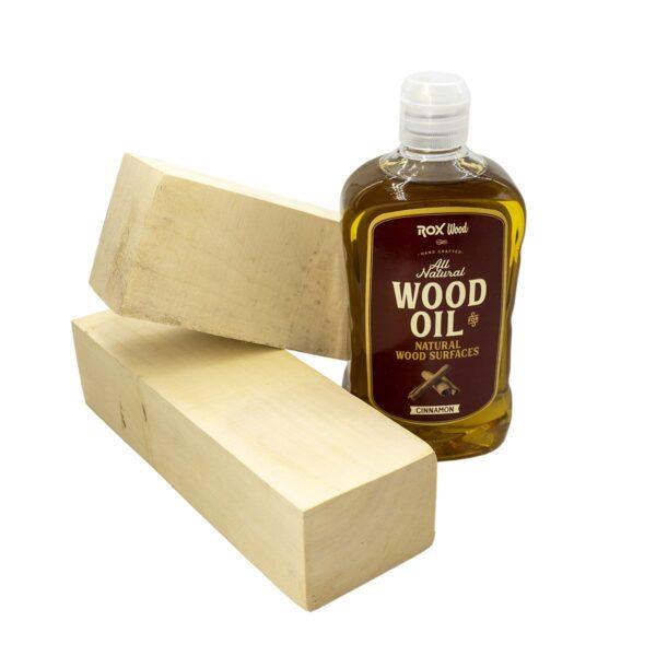 Rox Wood 0121 Tarçınlı Doğal Ahşap Yağı 500 ml 1