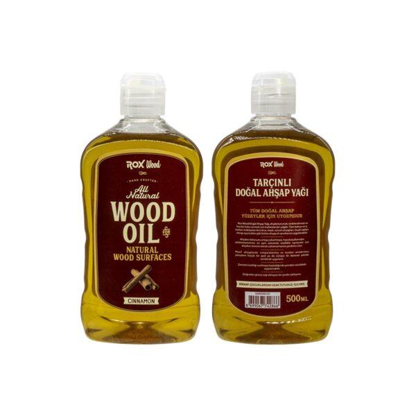 Rox Wood 0121 Tarçınlı Doğal Ahşap Yağı 500 ml 5